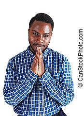 祈ること, 黒, 人