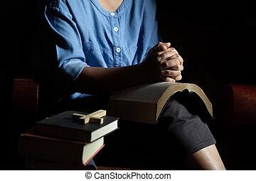 祈ること, house., 女, キリスト教徒