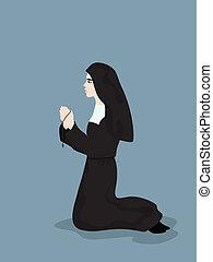祈禱, 修女