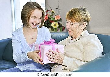 祖母, 孫娘, 訪問