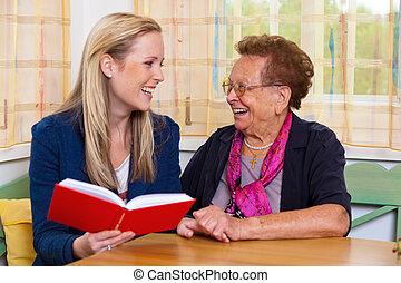祖母, 孫, 訪問