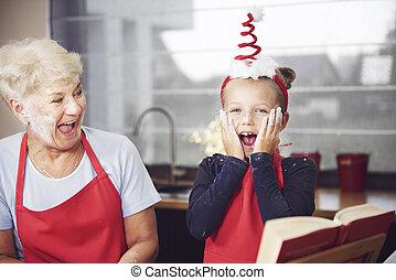 祖母, 楽しみ, 持つこと, 子供