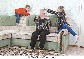 祖母, 遊び, 孫娘
