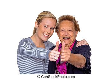 祖母, visited, 孫