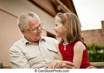 祖父母, よい, -, 孫, 時