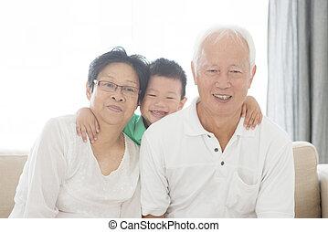 祖父母, アジア人, 孫