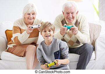 祖父母, ビデオゲーム, 遊び