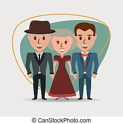 祖父母, レトロ, ∥(彼・それ)ら∥, 家族, 息子