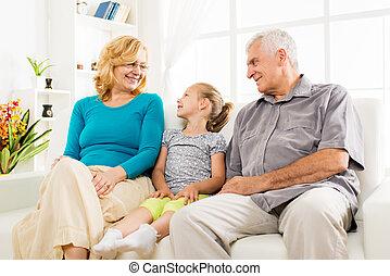 祖父母, 女の子