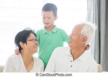 祖父母, 孫, 幸せ
