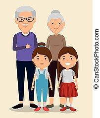 祖父母, 恋人, 子供, avatars, 特徴