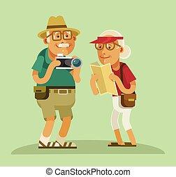 祖父母, 観光客