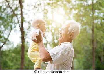 祖父母, 遊び, grandchild.