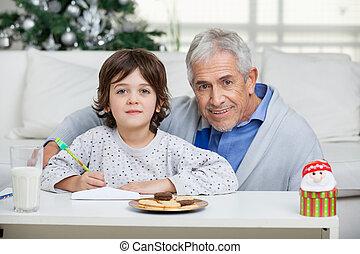 祖父, 封筒, 息子