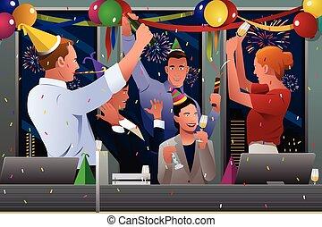 祝う, 人々ビジネス, 新年