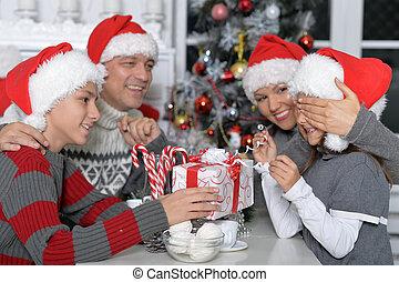 祝う, 家族の クリスマス