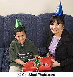 祝う, 家族, birthday.