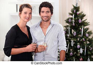 祝う, 恋人, クリスマス