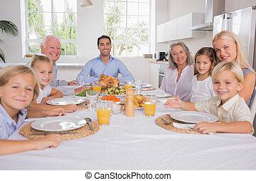 祝う, 感謝祭, 家族