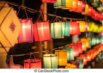 祝祭, アジア, カラフルである, ランタン