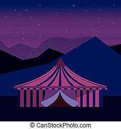 祝祭, サーカスのテント, カーニバル, 夜