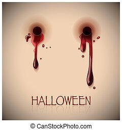 祝祭, 一かじり, ハロウィーン, 血, 背景