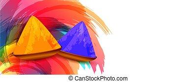 祝祭, 抽象的, 幸せ, デザイン, 色, 背景, holi