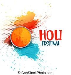 祝祭, 抽象的, 幸せ, holi, 背景, 色