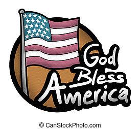 祝福しなさい, 神, アメリカ, アイコン