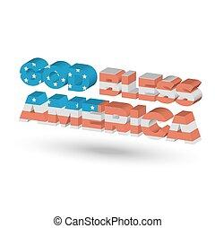 祝福しなさい, 神, アメリカ
