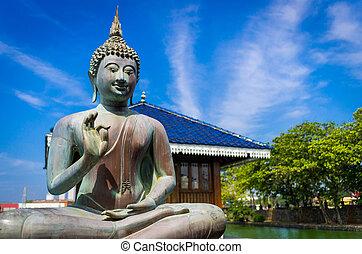 祝福, 仏, 中に, gangarama, 仏教