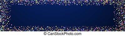 祝福, 偉人, confetti., stars., お祝い, colorfu