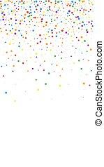 祝福, 新たに, stars., confetti., colorfu, お祝い