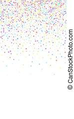 祝福, stars., 理想, お祝い, colorfu, confetti.