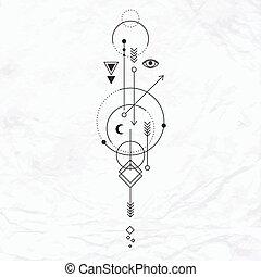 神秘主義者, シンボル, 幾何学的, 抽象的