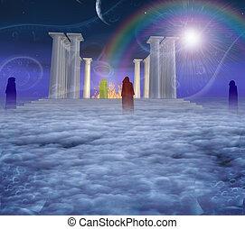 神秘主義者, 寺院