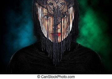 神秘的, アラビア, 女の子