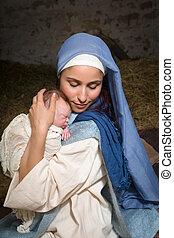 神聖, イエス・キリスト, 母, 赤ん坊
