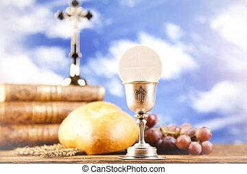 神聖, 聖餐, ワイン, bread