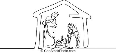 神聖, family., 現場, ベクトル, メリークリスマス