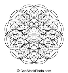 神聖, geometry., 黃金, section., 矢量, 10, eps