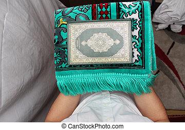 神聖, muslim, コーラン, イスラム教, 本, 読書, 人
