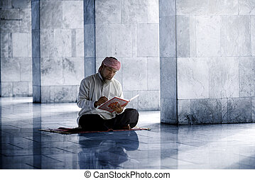 神聖, muslim, コーラン, 読書, 宗教, 人