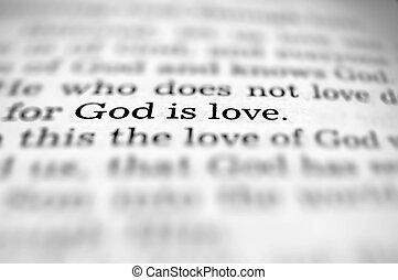 神, ある, 愛