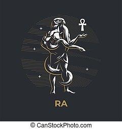神, エジプト人, ra.