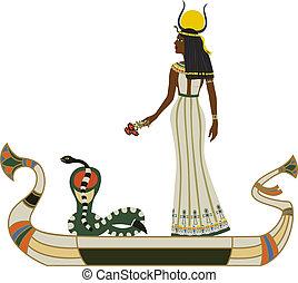 神, ヘビ, ボート, エジプト人