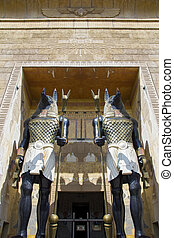 神, 彫像, afterlife., anubis-, エジプト人