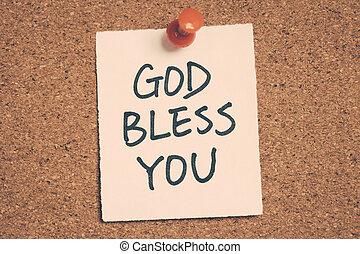 神, 祝福しなさい, あなた