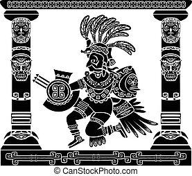 神, quetzalcoatl, aztec