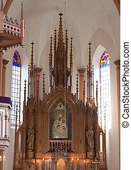 祭壇, 中に, ∥, カトリック教, 教会